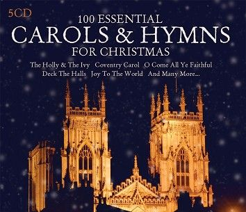 Various - 100 Essential Carols & Hymns For Christmas (5CD / Download) - CD
